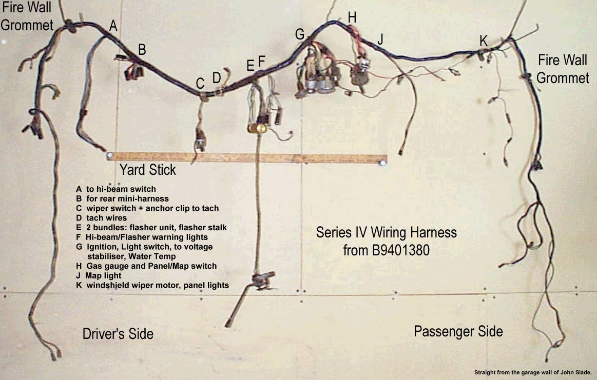 Jeromes Sunbeam Pages 5121 Electrical Schematics Wiring Harness Anchors John Slade Provided A Series Iv For Comparison